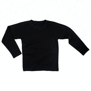 Wholesale children clothing blank custom long sleeve o-neck kids t shirt