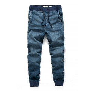 Wholesale elastic waistband  tactical pants straight crazy age jeans mens