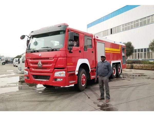 16tons Howo 10 wheel Fire Engine 13000Liters Water 3000liters foam Tanker Fire Fighting Truck