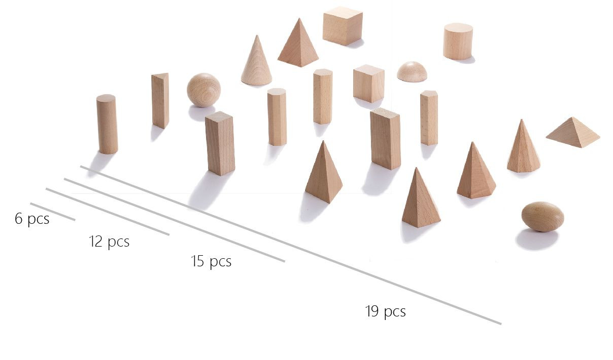 Geometric Solids- wooden shapes