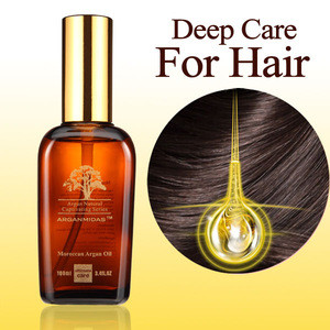 100% Organic hair care products oem hair growth serum Moroccan argan oil