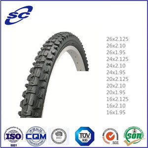 Anti-skidding butyl rubber bicycle tires with long life