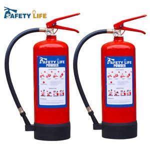 BSI EN3 kite mark 6kg 9kg abc dry chemical powder fire extinguisher
