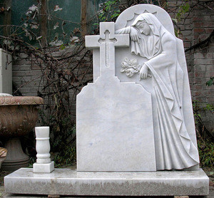 Carved tombstone with angel/European granite tombstone factory/Grave monument slab