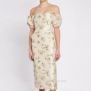 China Factory Off Shoulder Elegant Formal Evening Dress