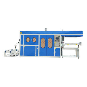 China Supplier Four Station Plastic Thermoforming Machine for producing  plastic containers trays boxes