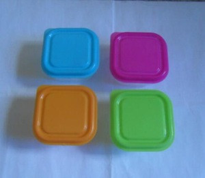 Clear plastic small container box for yogurt 6x6cm