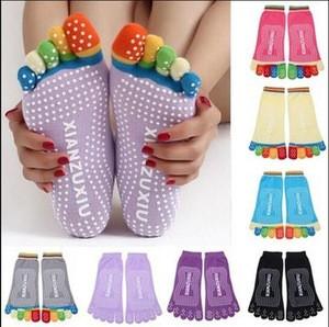 Colorful Five Finger Toe Yoga socks / Anti Skid Slip Socks / fitness socks