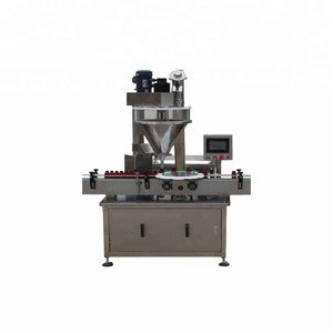 Commercial Hot Products Auto Auger Filler Line Bottling Equipment for Powder