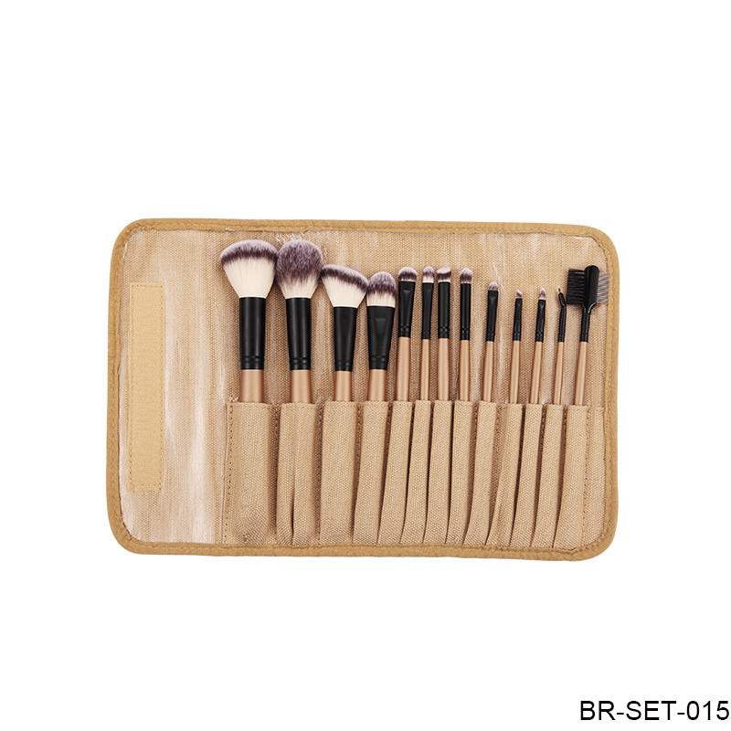 Cosmetic Makeup Vegan Brush with Portable Pouch.