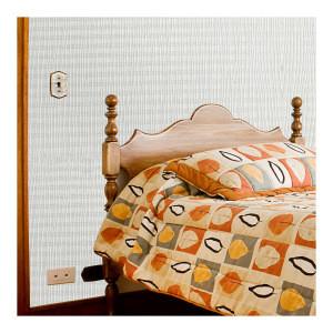 Decorative Plastic Wall Covering Sheets PVC Plastic Woven Wallpaper