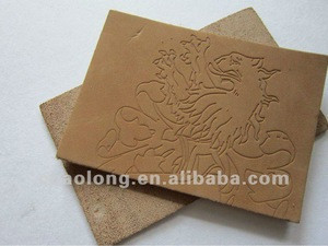 Engraved custom embossed logo jeans leather trademark,genuine leather label for cloth