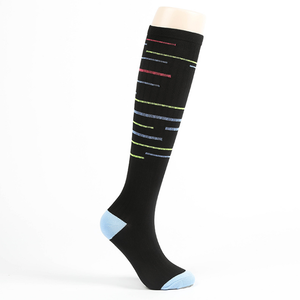 F-5059 new 2020 trend colours men women knee high compression sports socks custom running cycle stocking