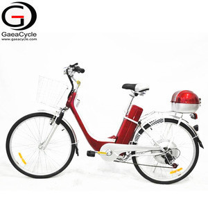 Gaea cheap electric city bike with seat for childfrom china dc motor bicycle with shopping baskets