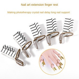 Gold Silver Nail Art Aluminum Form Reusable Extension Manicure Tool Nail Forms