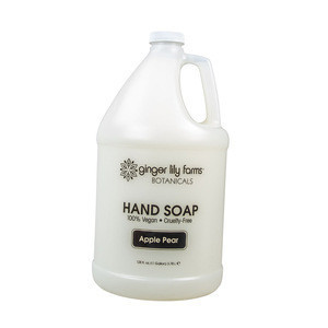 Good quality Apple Pear Hand Soap for cleanse the skin with Paraben, phosphate and sulfate free