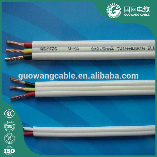 Guowang cable 2*0.75 3*0.75 Copper Cloth Covered Edison Lamp Cord/Fabric Lighting Flex Electric Cable