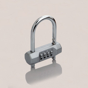 High Quality 4 Digits Combination Bicycle Padlock Outdoor Lock