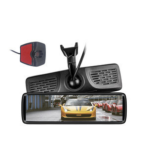 Kit Car Full Display Mirror 8.88inch IPS screen with 1 Piece Reverse Camera 1080P View angle 130 degree HD Rear Camera Guideline