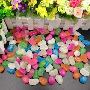 Luminescent glowing stone pebble for garden, path, route decoration