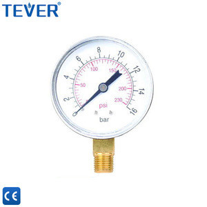Made in China metal radial pressure gauge for water supply system