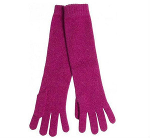 Manufacturer Fashion long style cashmere gloves low price