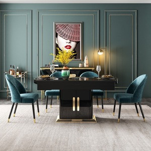 Import Modern Furniture Unique Design Glass Top 6 Seater Dining Table And Chair Set From China Find Fob Prices Tradewheel Com
