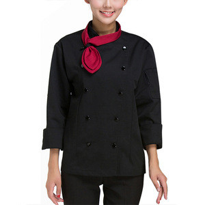 New spring chef work clothes long sleeve hotel restaurant western restaurant hotel work clothes unisex (excluding scarf)