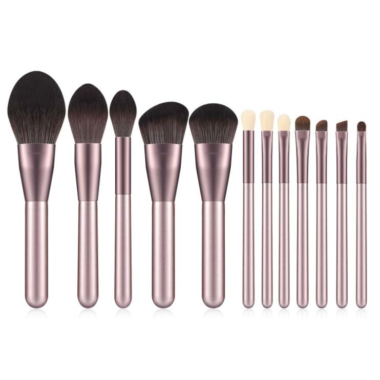 Import OEM Synthetic Hair 12PCS Makeup Brush Set with PU Bag from China