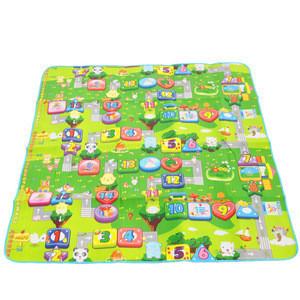 Outdoor camping mat cartoon baby green game pad crawling mat 1.8m beach kids play mat