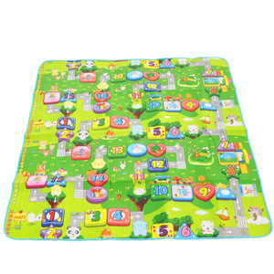 Outdoor camping mat cartoon baby green game pad crawling mat 1.8m beach kids play mat