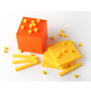 Plastic base ten cubes sets, educational math toys of base ten set, counting blocks for kids