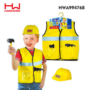 Popular Party Role Play Dress Engineering Set Yellow Children Costume