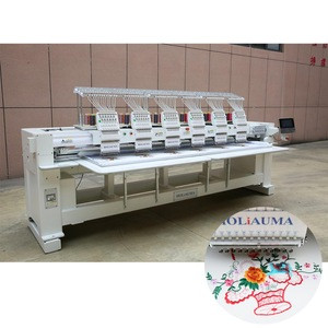 Six Head Canton Fair promotional cheaper priced Brother HO1206 Used 12 Needles Industrial Embroidery Sewing Machine
