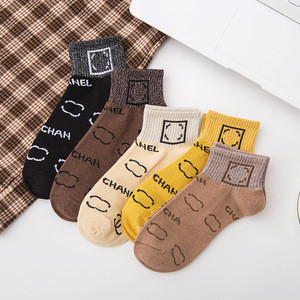 Wholesale new design spring and summer women's fashion socks trendy cotton women sock