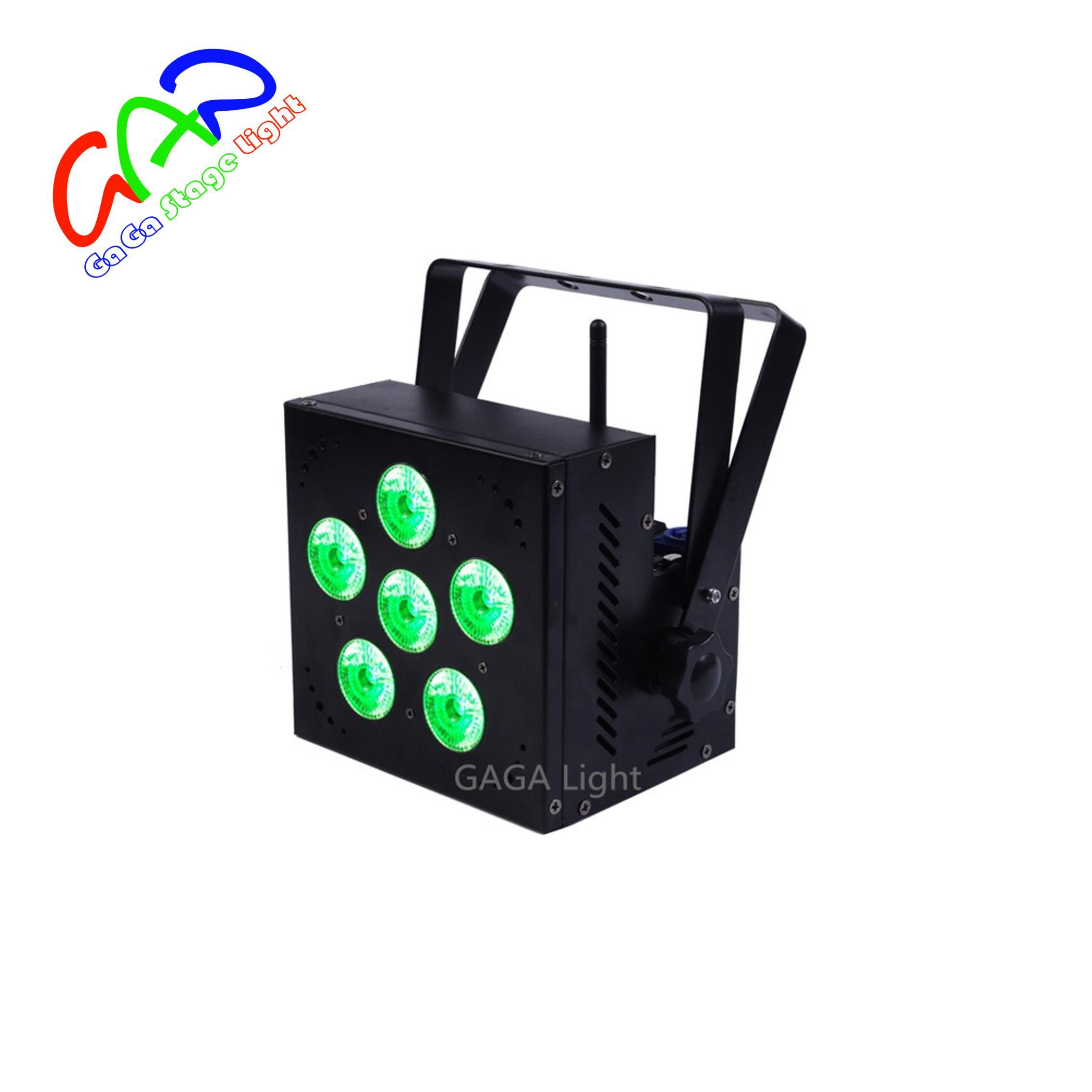 6*15w 5in1 wireless and battery powered light BATTERY & WIRELESS FLAT PAR with CE certificate can led par light
