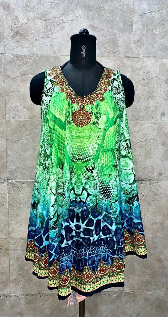Beachwear Digital Print Dress