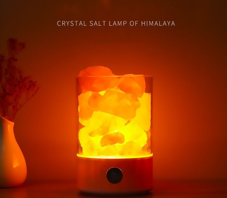 Usb himalaya salt lamp with colorful light natural salt lamp