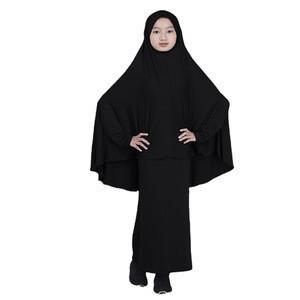 2020 women overhead jilbab prayer abaya black islamic clothing muslim women dress
