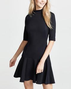 3/4 sleeves european drop waist knit clothing dress