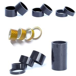 3k Carbon fiber washers for bike titanium stem bolt alloy bicycle headsets
