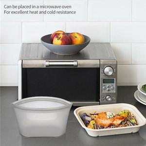 3pcs Zipper Reusable Microwave Silicone Food Storage Bag