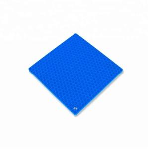 Anti Slip Heat Resistant Washable Silicone Hot Pot Pad