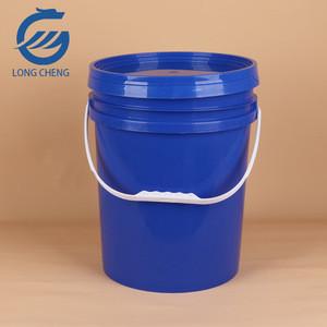 Blue plastic barrel drums