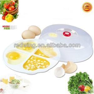 Heart shape 4 devided plastic microwave egg cooker