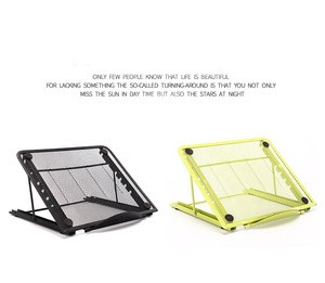 High Quality Adjustable Height Skid Resistant Multi-Color iron gauze Tablet Stand