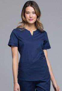 Hot sale Hospital uniform V-neck nurse uniform top