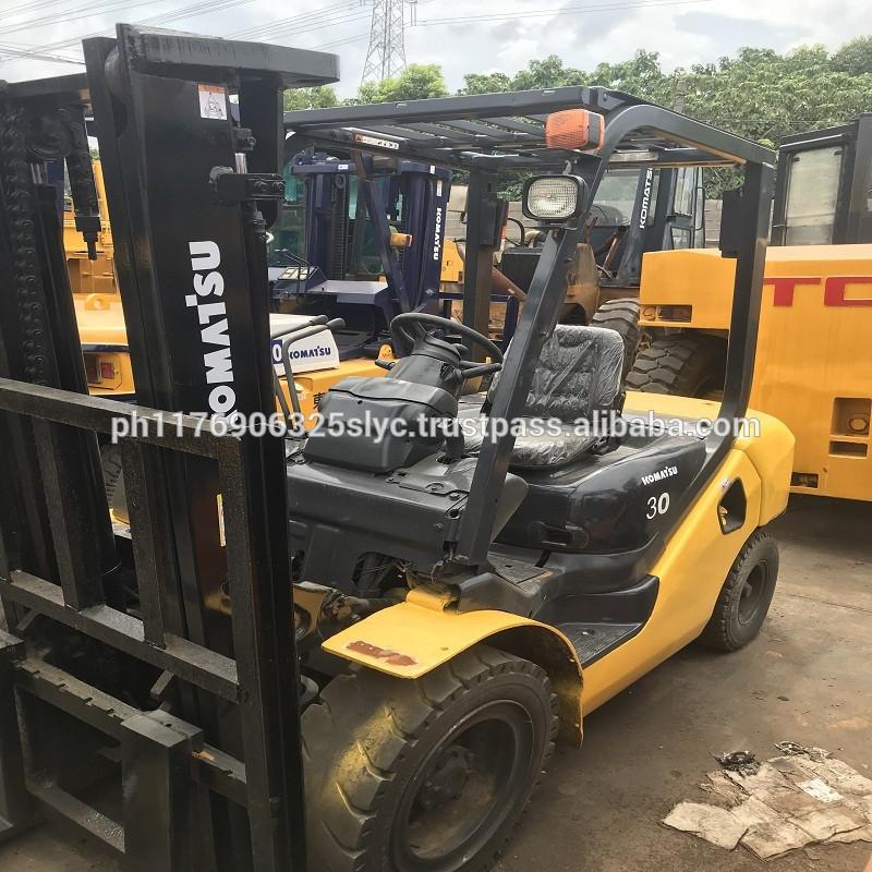japan used diesel forklift 3 ton for sale, used komatsu diesel forklift fd30 cheap price