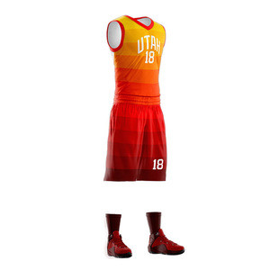 Mens youth design color red sublimation custom basketball jersey uniforms wear