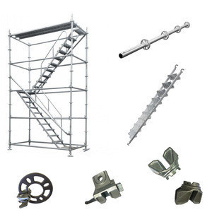 Metal Q345 steel concrete slab formwork ringlock scaffolding system and parts for building material construction